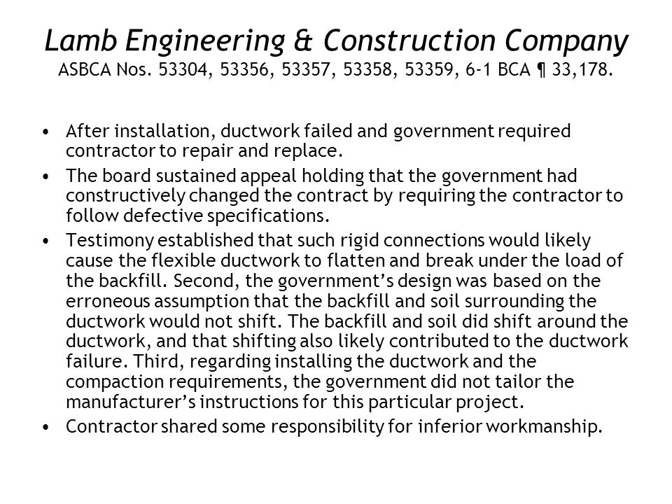 Lamb Engineering & Construction Company ASBCA Nos.