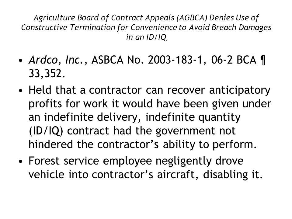 Ardco, Inc., ASBCA No. 2003-183-1, 06-2 BCA ¶ 33,352.