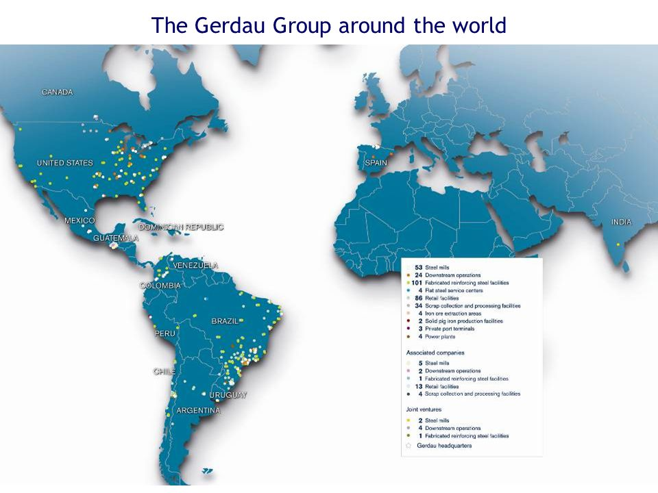 The Gerdau Group around the world