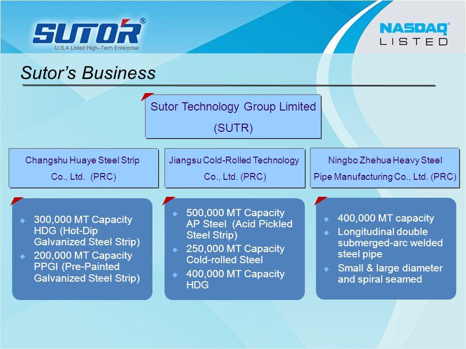 Sutor Technology Group Limited (SUTR) Changshu Huaye Steel Strip Co., Ltd.