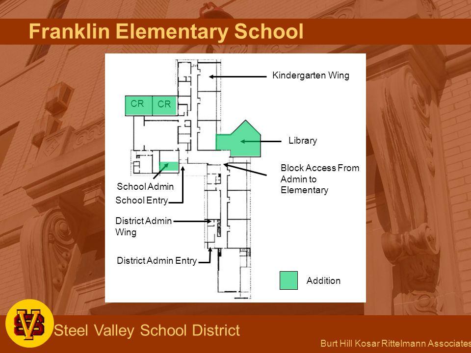 Burt Hill Kosar Rittelmann Associates Steel Valley School District Franklin Elementary School Kindergarten Wing CR Library Block Access From Admin to