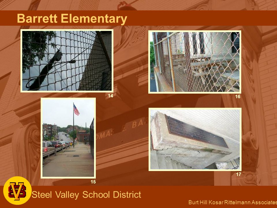 Burt Hill Kosar Rittelmann Associates Steel Valley School District 14 15 16 17 Barrett Elementary