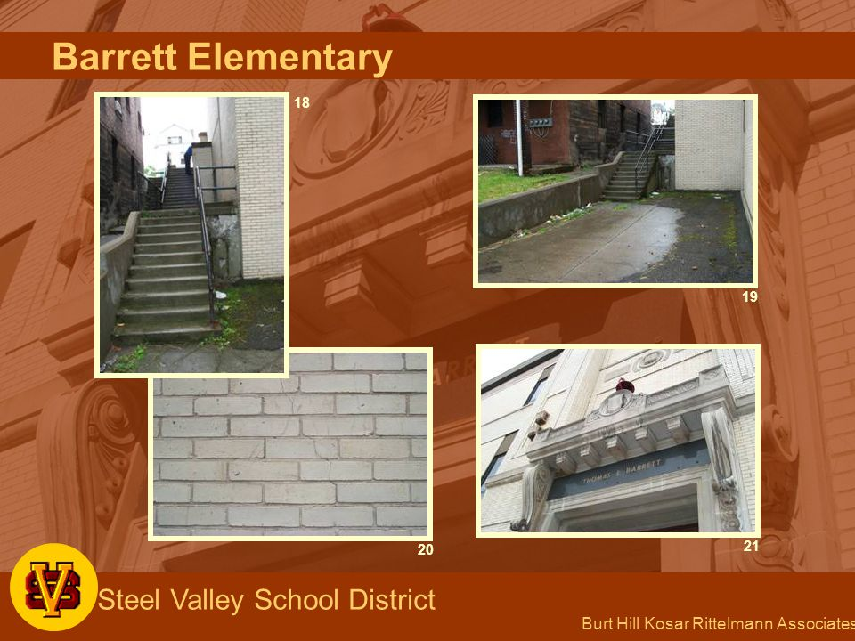Burt Hill Kosar Rittelmann Associates Steel Valley School District 192120 18 Barrett Elementary