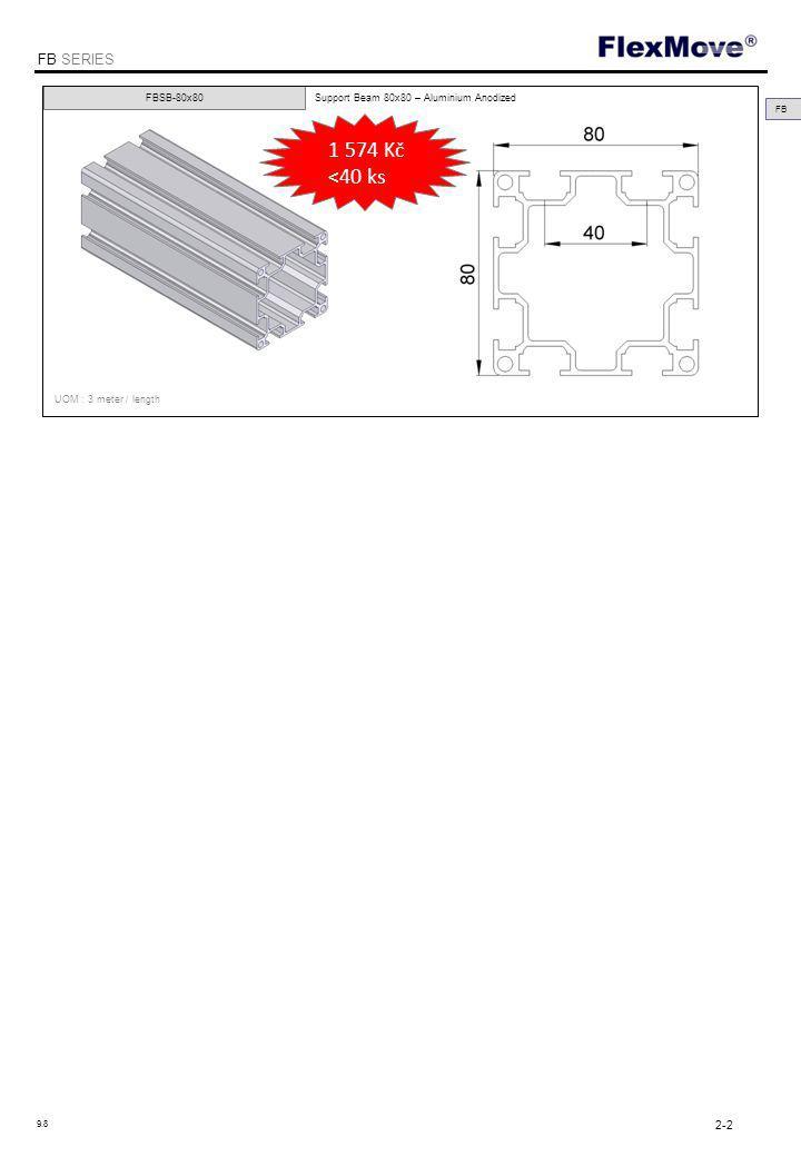 FlexMove FB SERIES FBEC-40 40x40mm Support Beam End Cap - Polyamide FBEC-64 FBEC-80 FB 64x64mm Support Beam End Cap - Polyamide 80x80mm Support Beam End Cap - Polyamide UOM : 10 pcs / pk 2-3 9.8