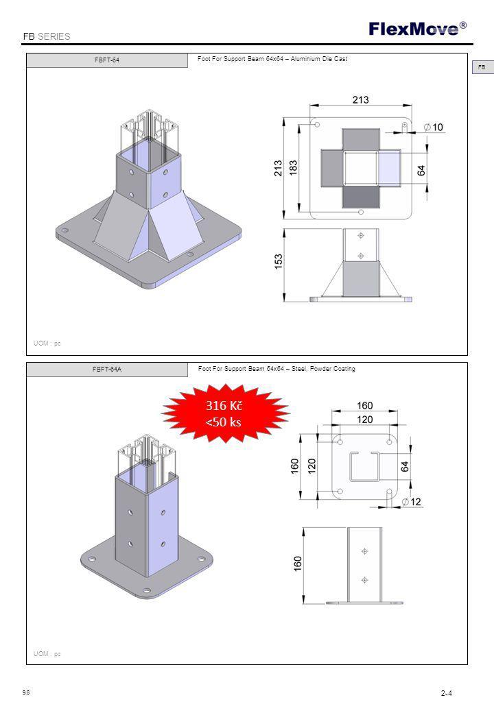 FlexMove FB SERIES FBAB-40x60 FBAB-40L Angle bracket for Support Beam 40x40 – Aluminium Angle Bracket for Support Beam 40x40 - Aluminium UOM : pc FB 2-15 9.8