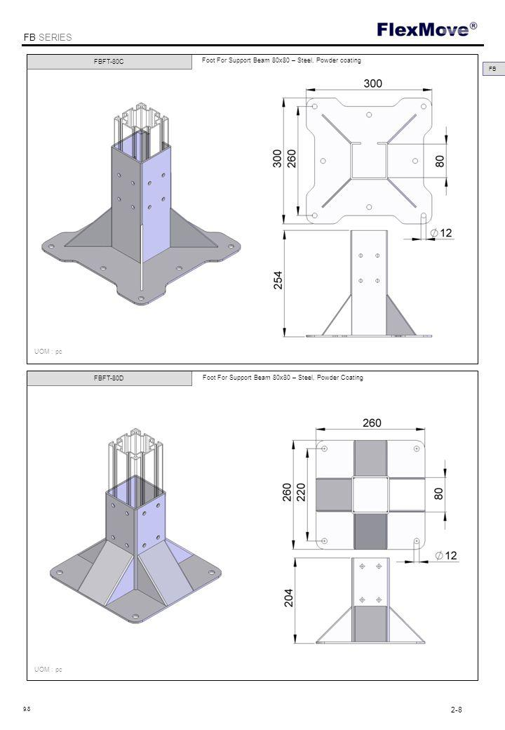 FlexMove FB SERIES FBCP-40T FBCP-40L T Connecting Plate for Support Beam 40x40- Steel, Zinc Plated L Connecting Plate for Support Beam 40x40- Steel, Zinc Plated UOM : pc FB 2-9 9.8