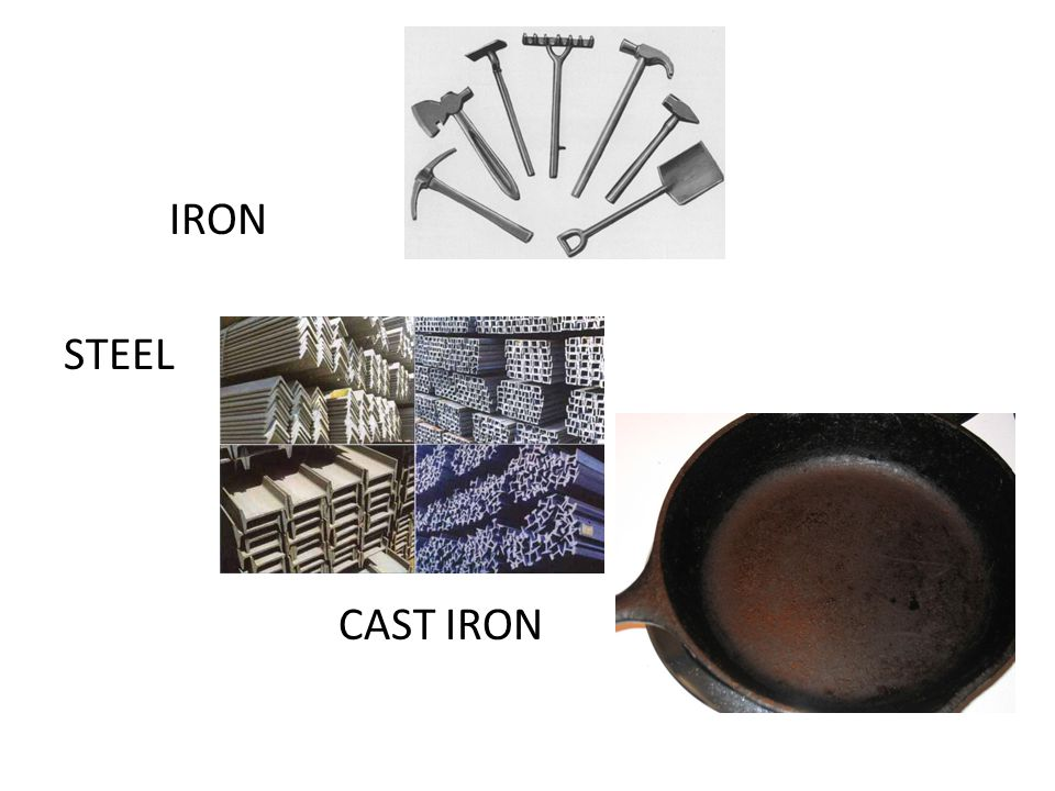 IRON STEEL CAST IRON