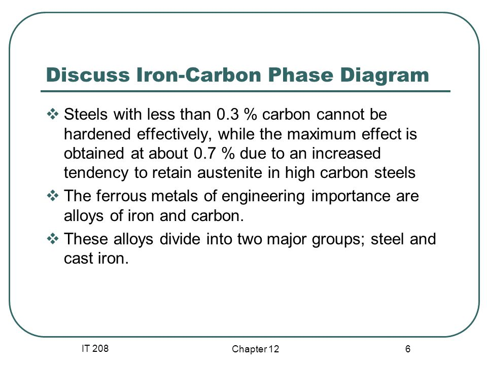 IT 208 Chapter 12 17 Methods of Hardening Steels Case Hardening If low-carbon steel is used and toughness is need in the workpiece, its surface cannot be significantly hardened.