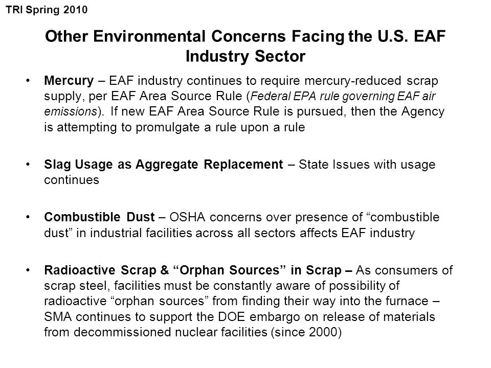 Other Environmental Concerns Facing the U.S.