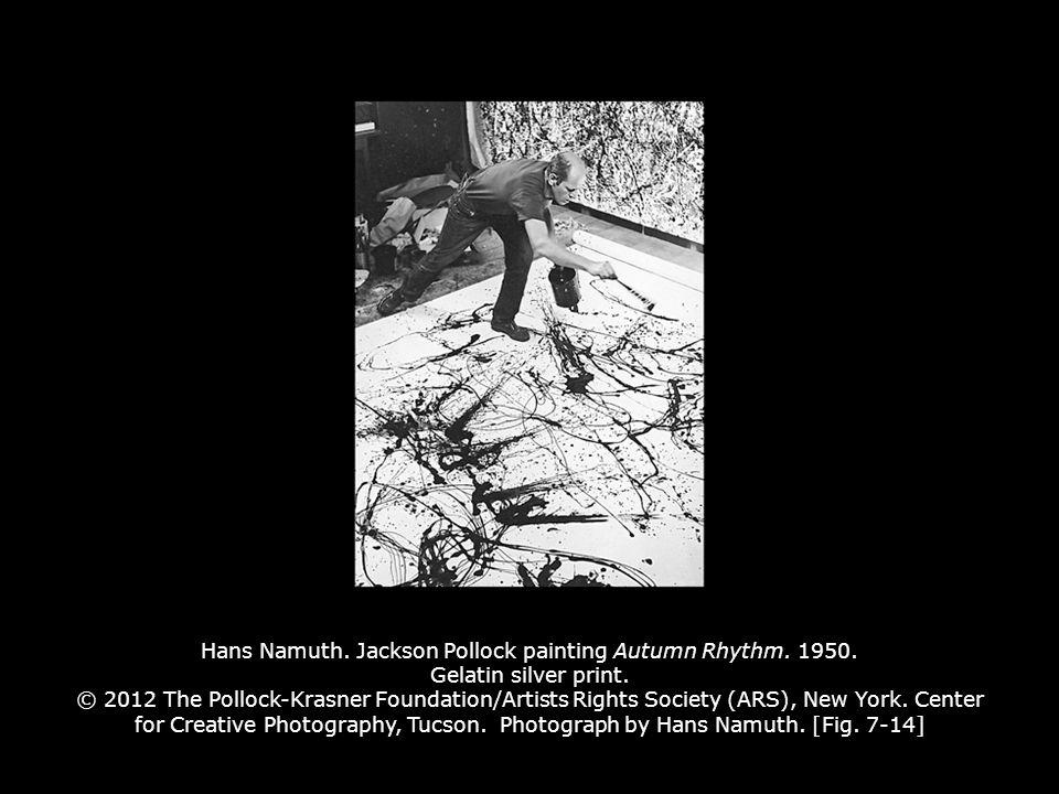 Hans Namuth. Jackson Pollock painting Autumn Rhythm.