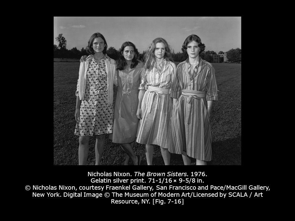 Nicholas Nixon. The Brown Sisters. 1976. Gelatin silver print.