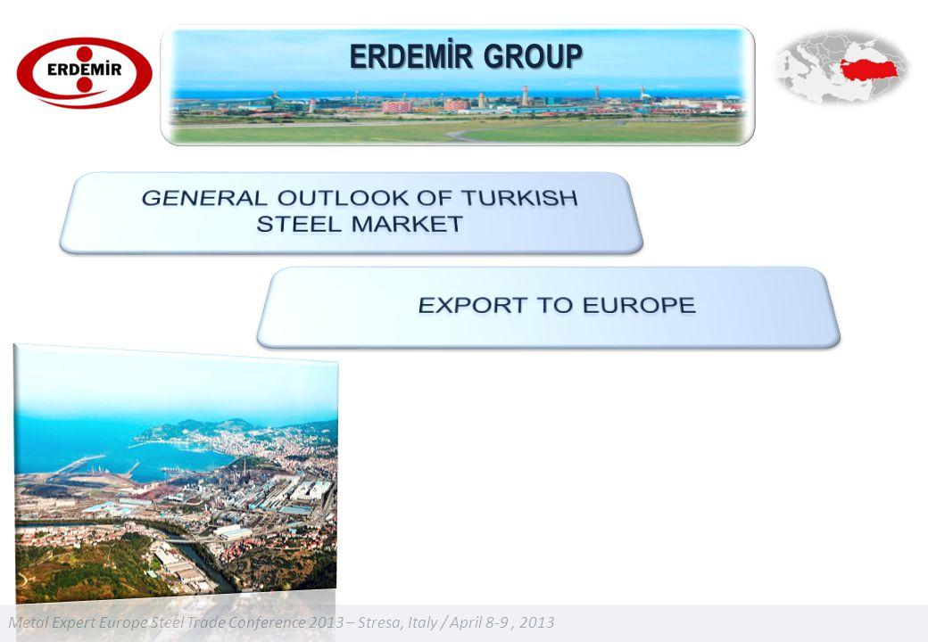 Metal Expert Europe Steel Trade Conference 2013 – Stresa, Italy / April 8-9, 2013 ERDEMİR GROUP
