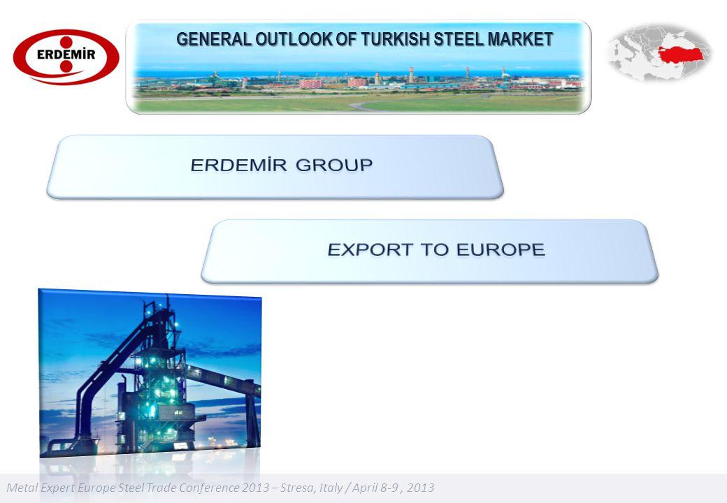 Metal Expert Europe Steel Trade Conference 2013 – Stresa, Italy / April 8-9, 2013 GENERAL OUTLOOK OF TURKISH STEEL MARKET