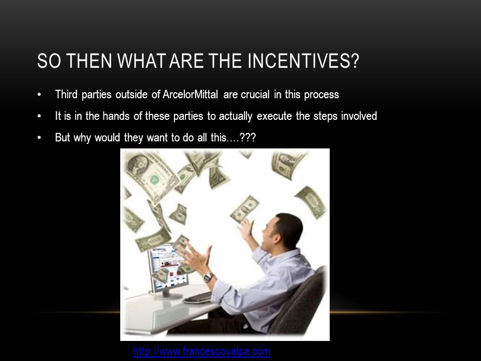 SO THEN WHAT ARE THE INCENTIVES.