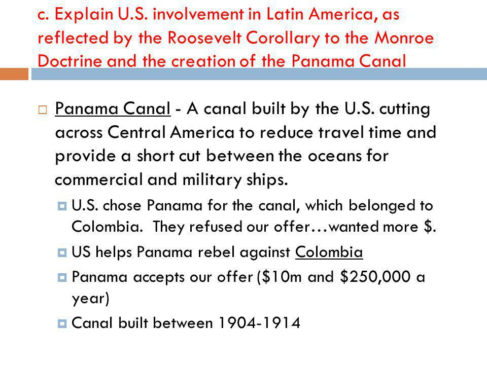 Panama Canal - A canal built by the U.S.