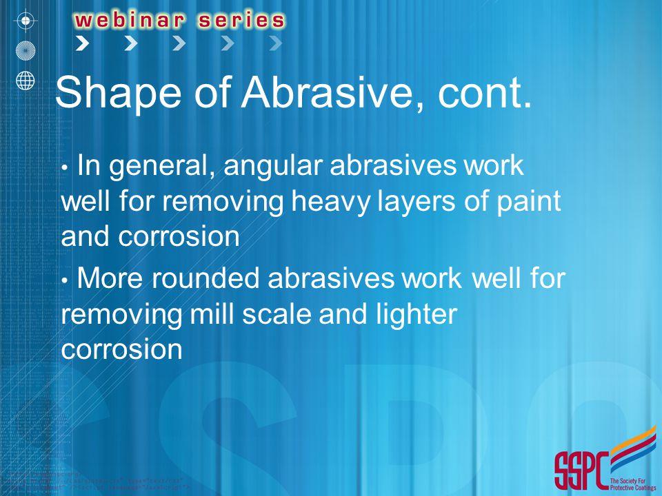 Shape of Abrasive, cont.
