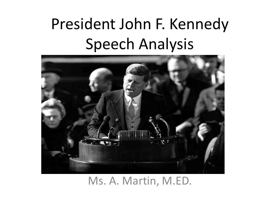 How to write an essay on Kennedy's Speech?