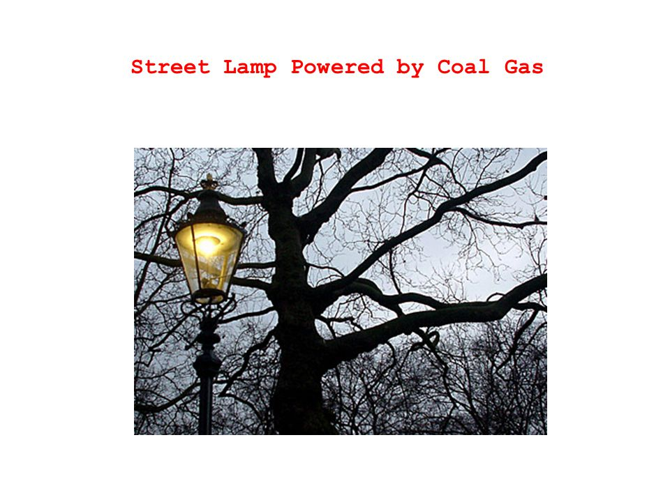 Street Lamp Powered by Coal Gas