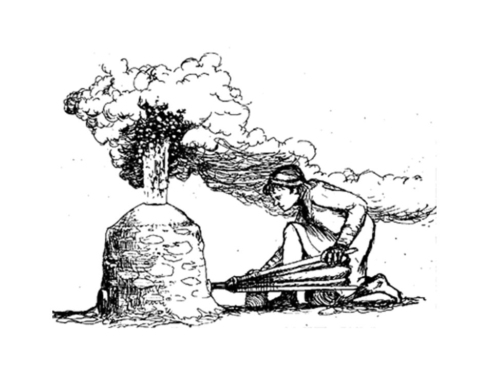 Smelting at night gave clues to the complex air flows through and over the furnace