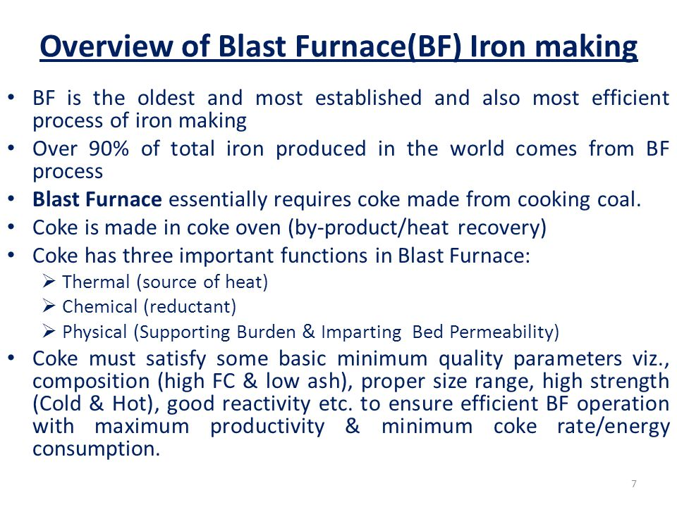 Problems and issues with Indian Coking Coal BF Coke-making requires good quality of cooking coal usually prime cooking coal.