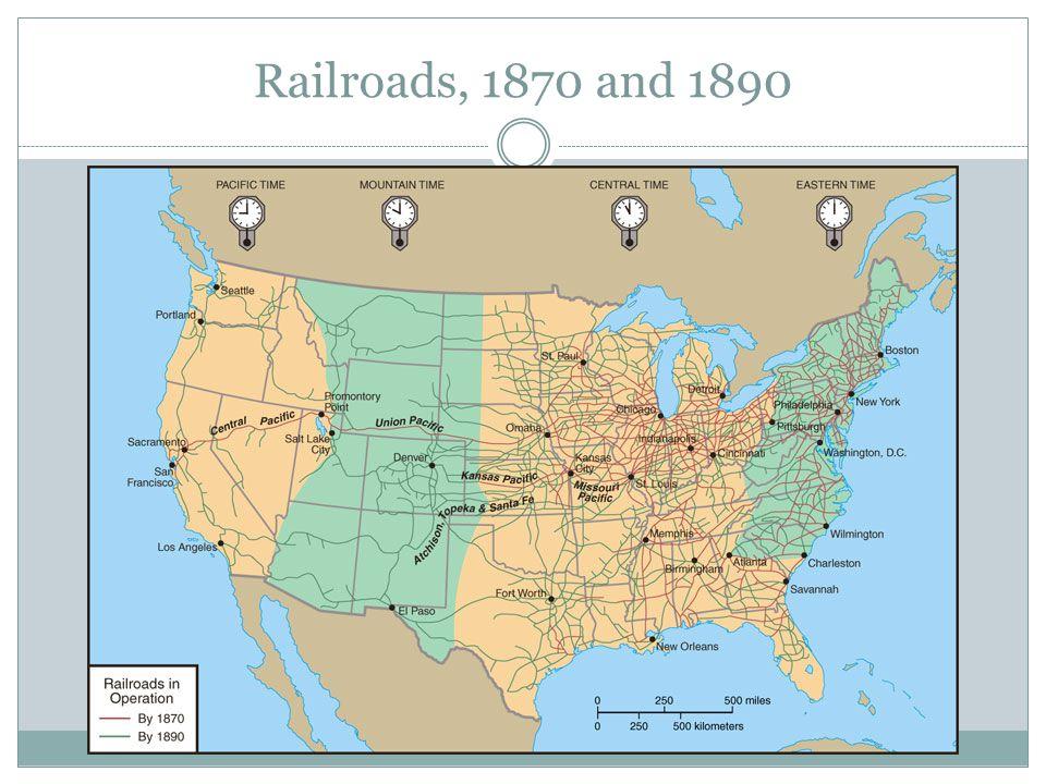 Railroads, 1870 and 1890