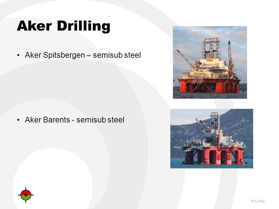 PTIL/PSA Aker Drilling Aker Spitsbergen – semisub steel Aker Barents - semisub steel