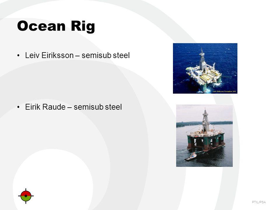 PTIL/PSA Ocean Rig Leiv Eiriksson – semisub steel Eirik Raude – semisub steel