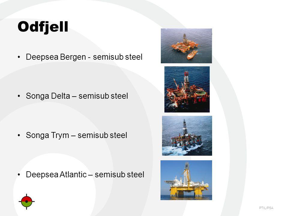 PTIL/PSA Odfjell Deepsea Bergen - semisub steel Songa Delta – semisub steel Songa Trym – semisub steel Deepsea Atlantic – semisub steel