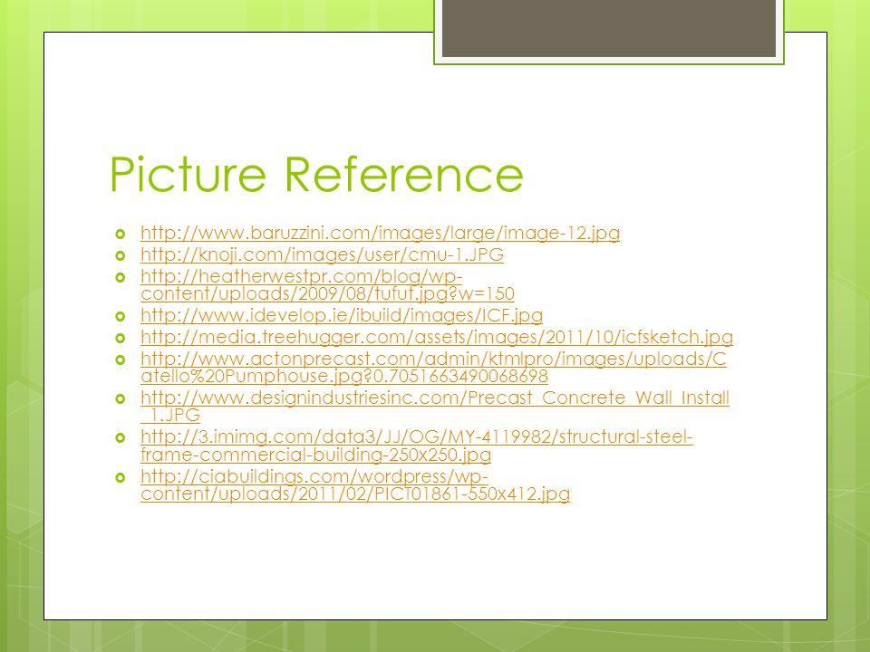 Picture Reference http://www.baruzzini.com/images/large/image-12.jpg http://knoji.com/images/user/cmu-1.JPG http://heatherwestpr.com/blog/wp- content/uploads/2009/08/tufut.jpg w=150 http://heatherwestpr.com/blog/wp- content/uploads/2009/08/tufut.jpg w=150 http://www.idevelop.ie/ibuild/images/ICF.jpg http://media.treehugger.com/assets/images/2011/10/icfsketch.jpg http://www.actonprecast.com/admin/ktmlpro/images/uploads/C atello%20Pumphouse.jpg 0.7051663490068698 http://www.actonprecast.com/admin/ktmlpro/images/uploads/C atello%20Pumphouse.jpg 0.7051663490068698 http://www.designindustriesinc.com/Precast_Concrete_Wall_Install _1.JPG http://www.designindustriesinc.com/Precast_Concrete_Wall_Install _1.JPG http://3.imimg.com/data3/JJ/OG/MY-4119982/structural-steel- frame-commercial-building-250x250.jpg http://3.imimg.com/data3/JJ/OG/MY-4119982/structural-steel- frame-commercial-building-250x250.jpg http://ciabuildings.com/wordpress/wp- content/uploads/2011/02/PICT01861-550x412.jpg http://ciabuildings.com/wordpress/wp- content/uploads/2011/02/PICT01861-550x412.jpg