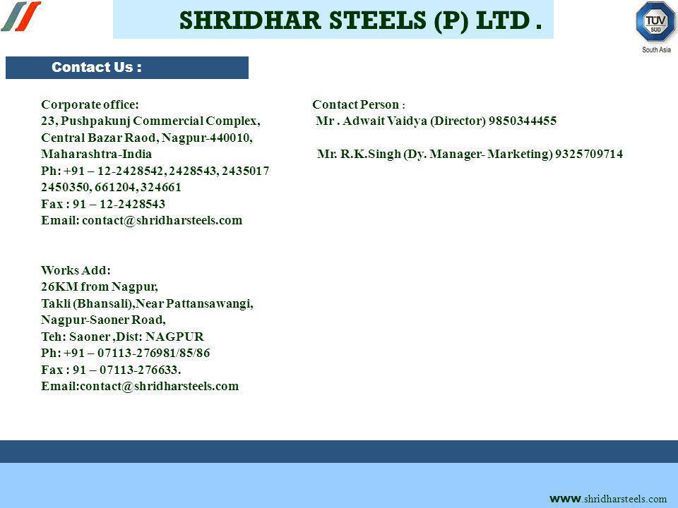 Shridhar Steels (Pvt) Ltd.