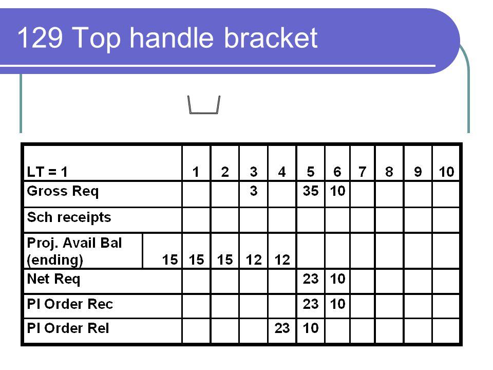 129 Top handle bracket