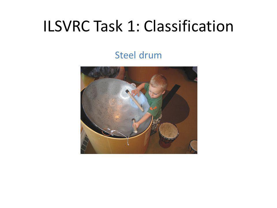 ILSVRC Task 1: Classification Steel drum