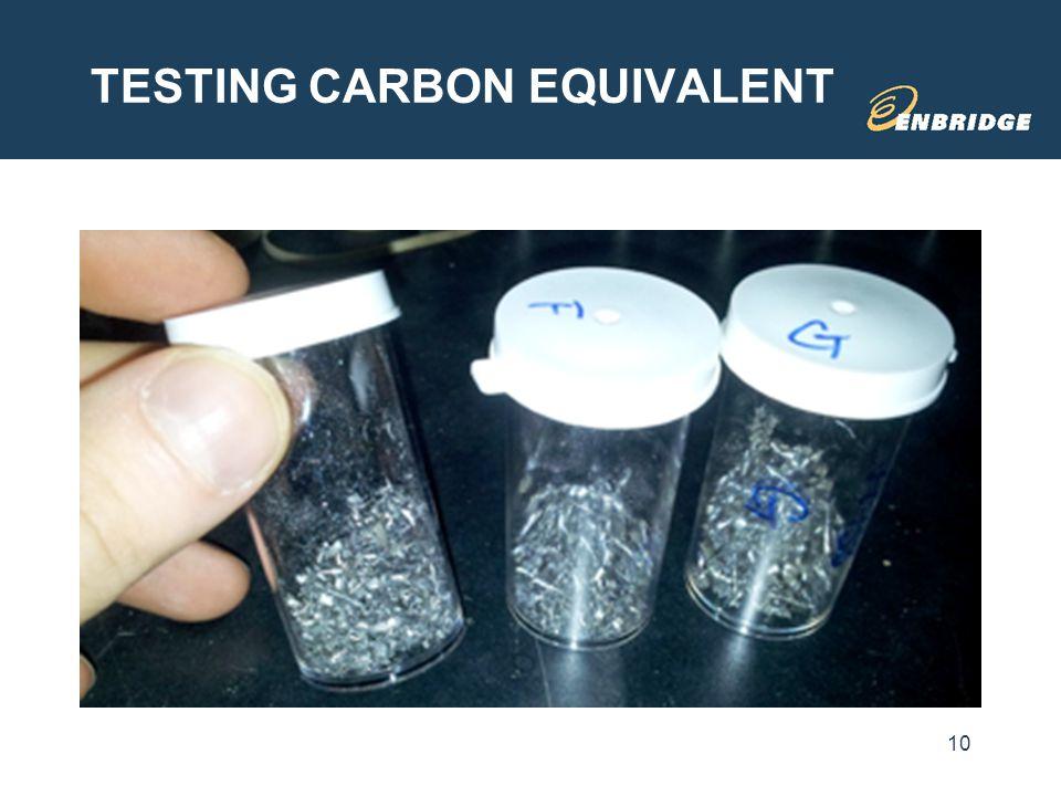 TESTING CARBON EQUIVALENT 10