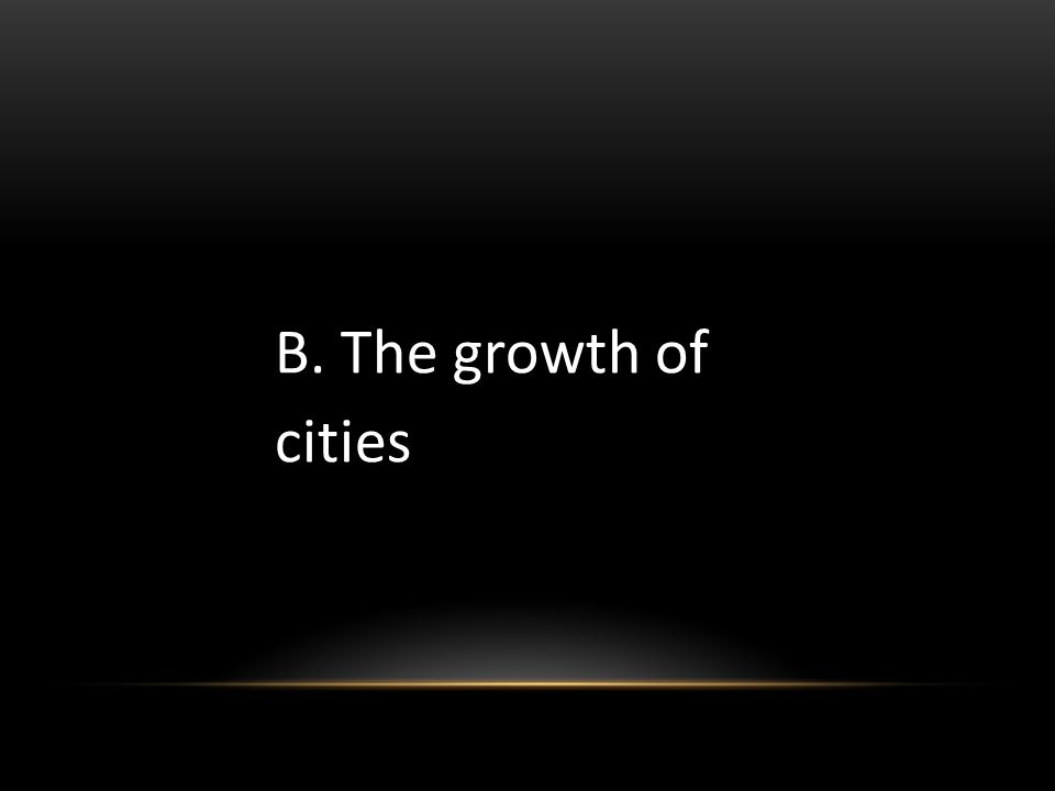 B. The growth of cities