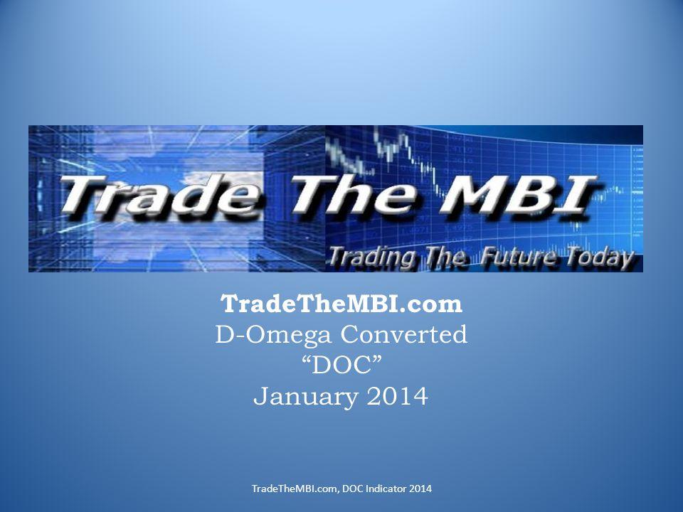 TradeTheMBI.com D-Omega Converted DOC January 2014 TradeTheMBI.com, DOC Indicator 2014