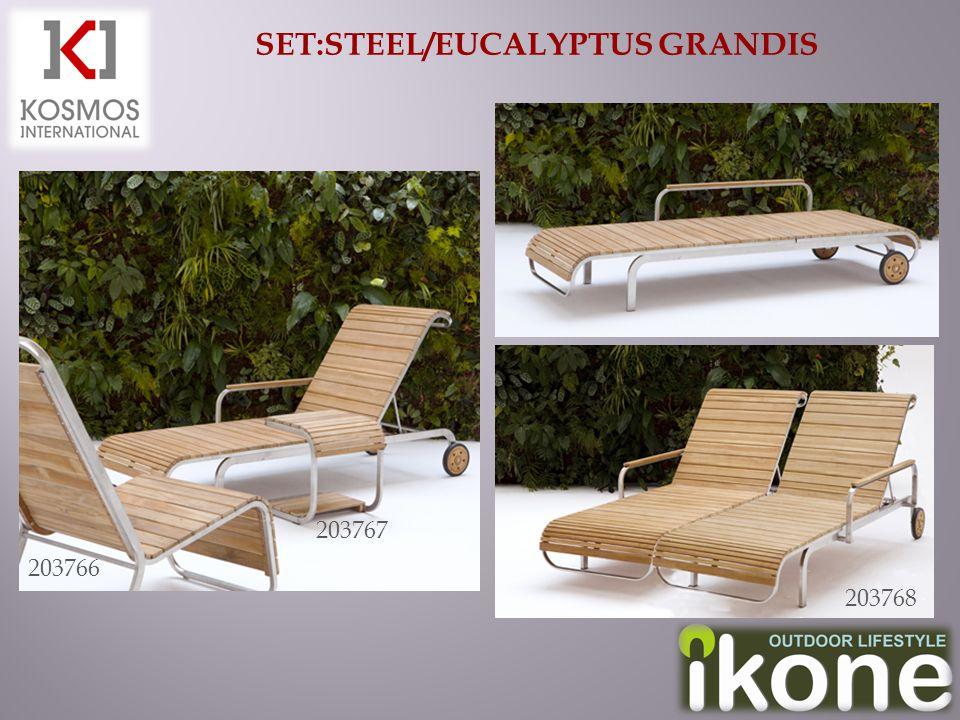 SET:STEEL/EUCALYPTUS GRANDIS 203766 203767 203768
