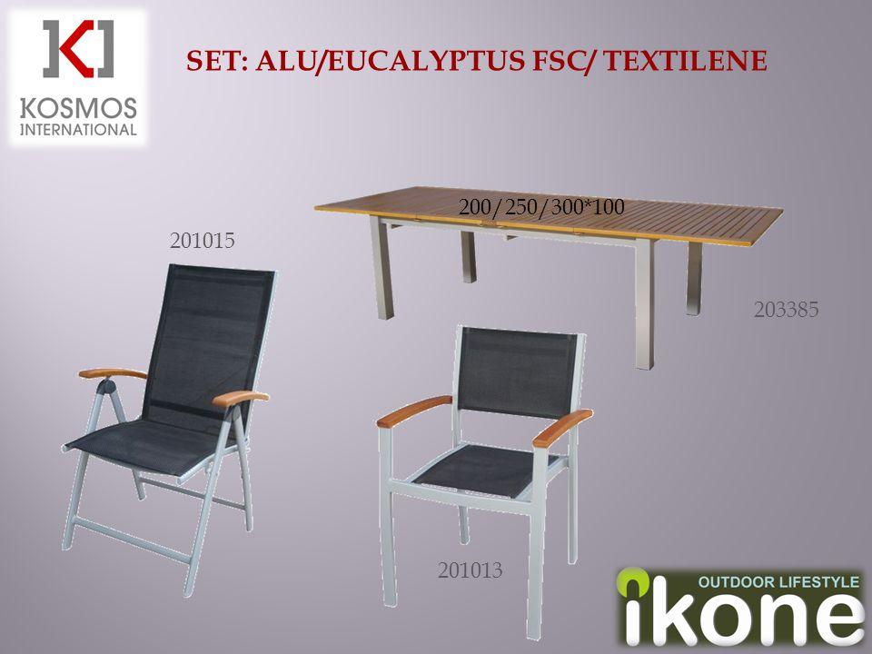SET: ALU/EUCALYPTUS FSC/ TEXTILENE 201015 201013 203385 200/250/300*100