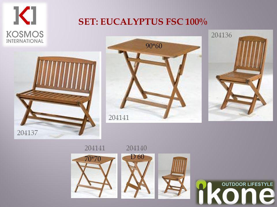 SET: EUCALYPTUS FSC 100% 204136 204137 204141 204140 90*60 70*70 D 60