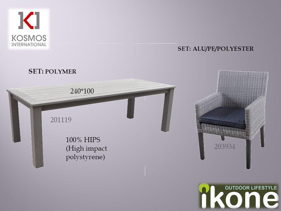 201119 240*100 SET: POLYMER 203934 SET: ALU/PE/POLYESTER 100% HIPS (High impact polystyrene)