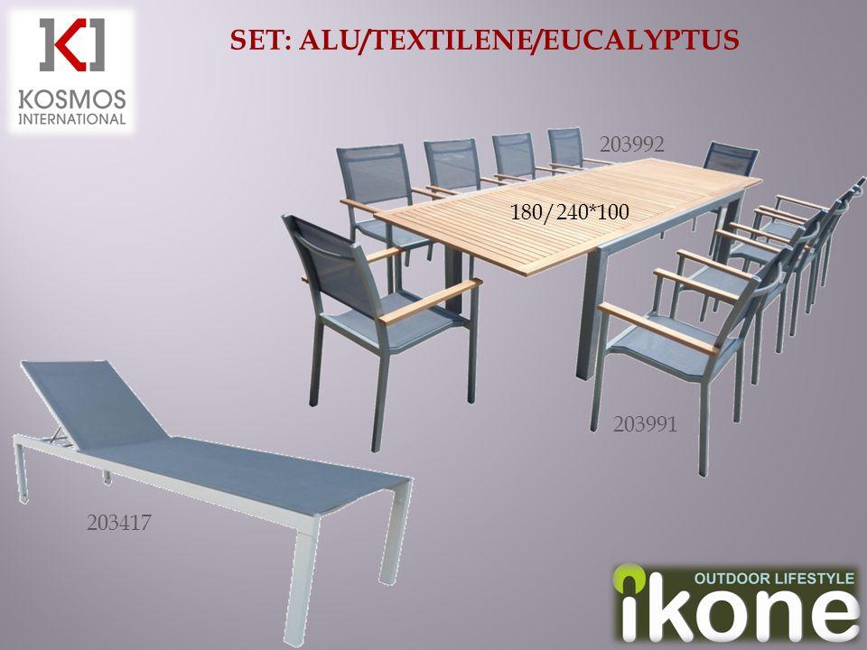 SET: ALU/TEXTILENE/EUCALYPTUS 203417 180/240*100 203992 203991