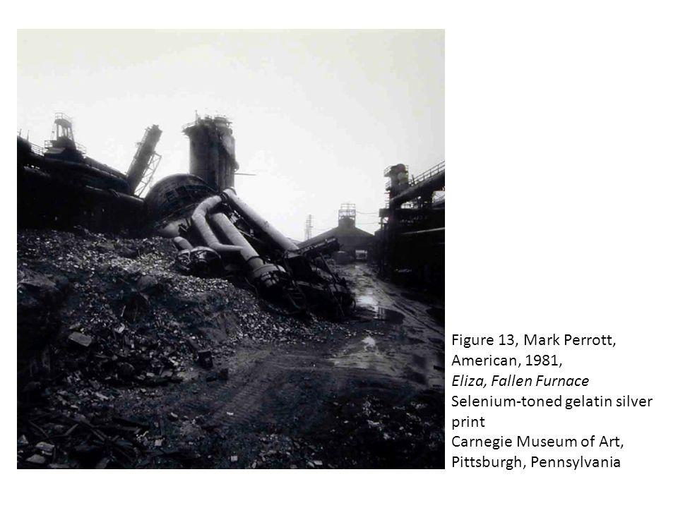 Figure 13, Mark Perrott, American, 1981, Eliza, Fallen Furnace Selenium-toned gelatin silver print Carnegie Museum of Art, Pittsburgh, Pennsylvania