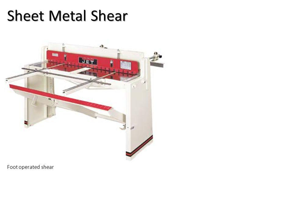 Sheet Metal Shear Foot operated shear