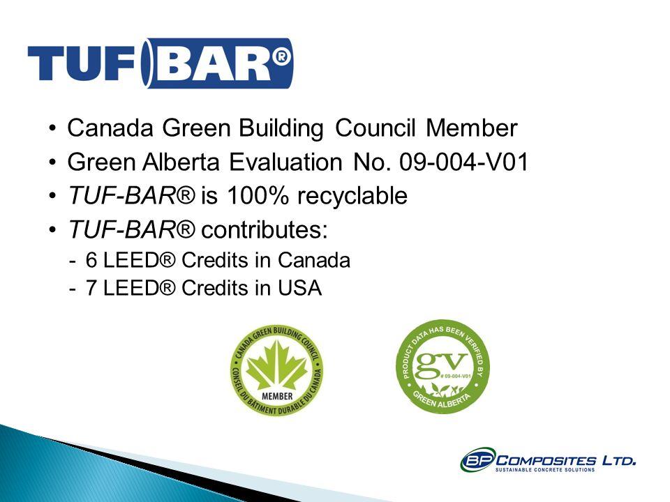 Canada Green Building Council Member Green Alberta Evaluation No.
