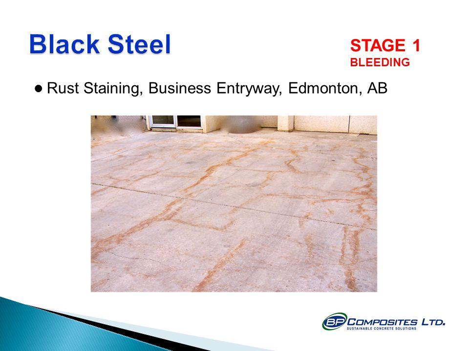 Rust Staining, Business Entryway, Edmonton, AB STAGE 1 BLEEDING