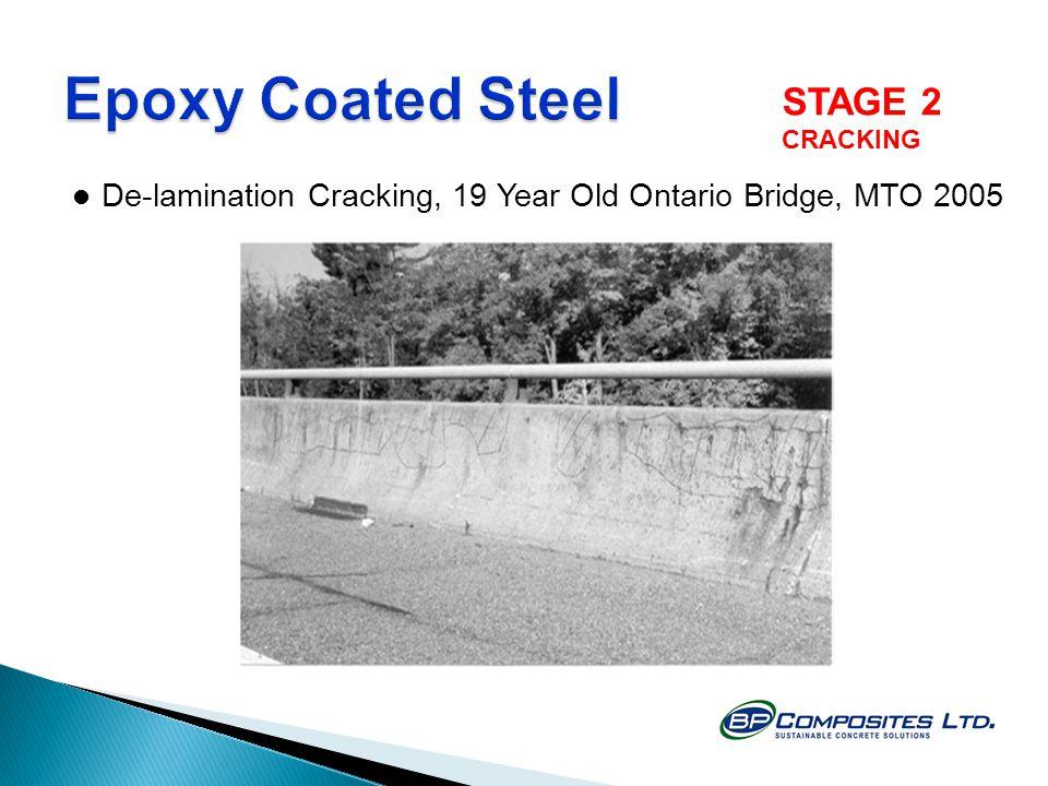 De-lamination Cracking, 19 Year Old Ontario Bridge, MTO 2005 STAGE 2 CRACKING