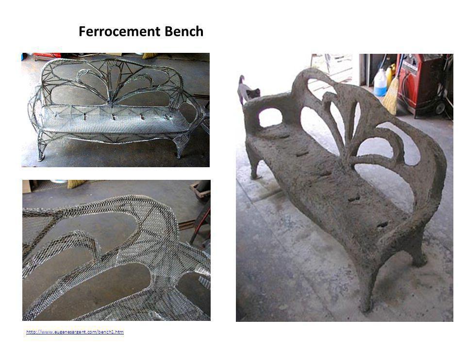 Ferrocement Bench http://www.eugenesargent.com/bench1.htm