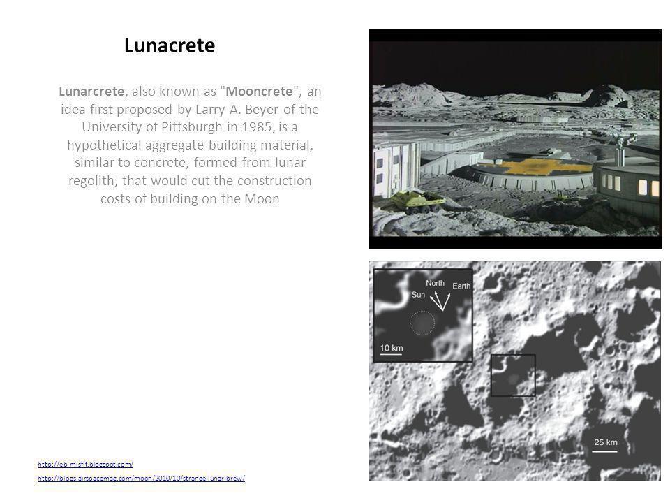 Lunarcrete, also known as