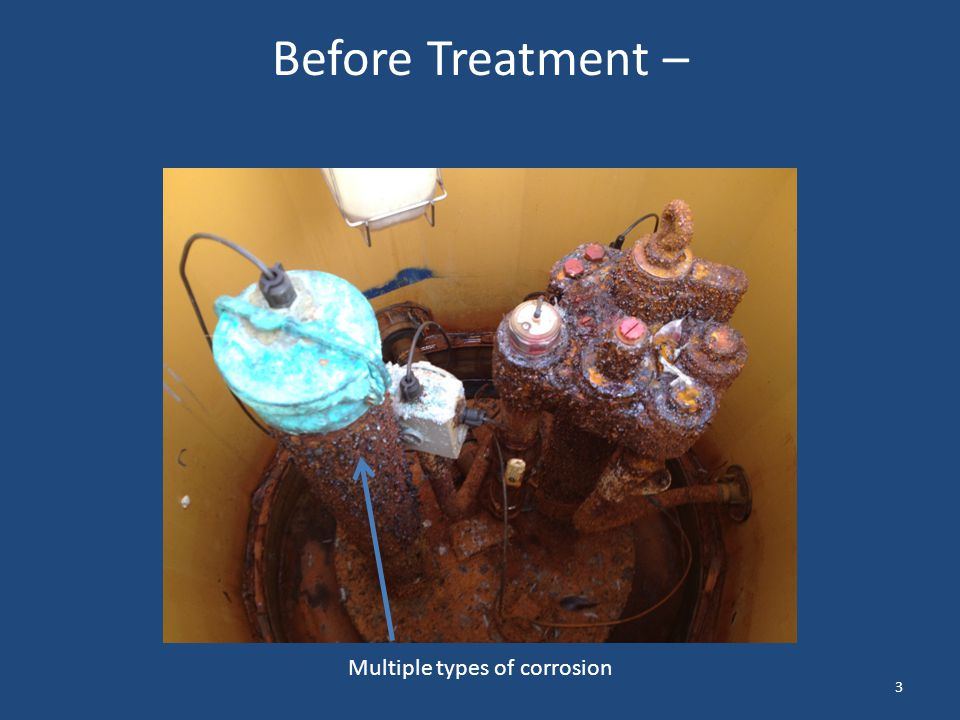 Before Treatment – Multiple types of corrosion 3