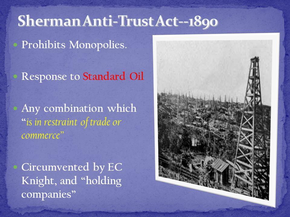 Prohibits Monopolies.