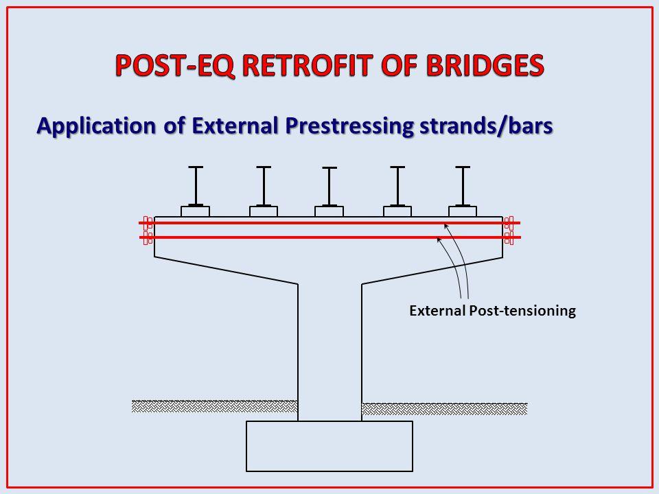 External Post-tensioning Application of External Prestressing strands/bars